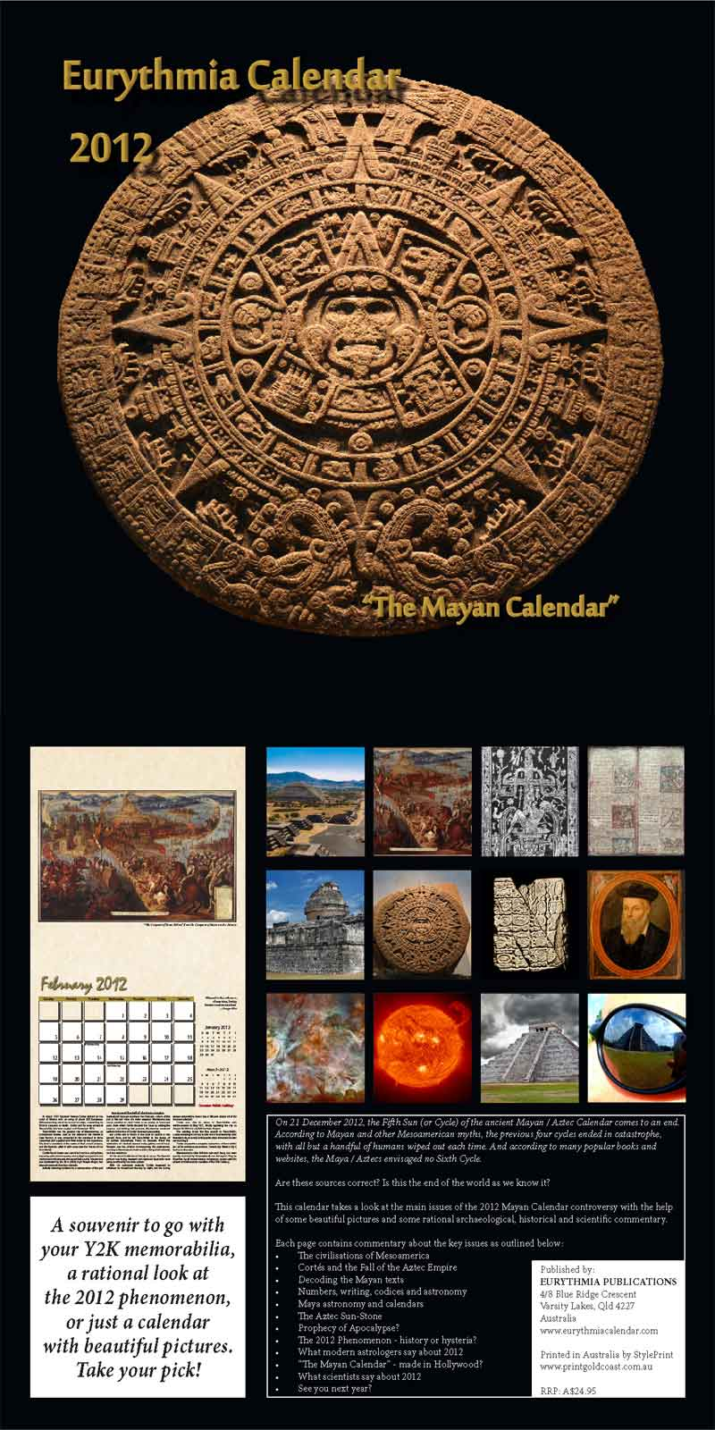 2012 Eurythmia Calendar Cover spread