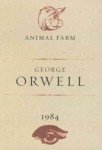 Book cover of 1984 and Animal Farm by George Orwell