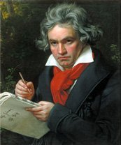 Oil painting of Beethoven from 1819 by Stieler