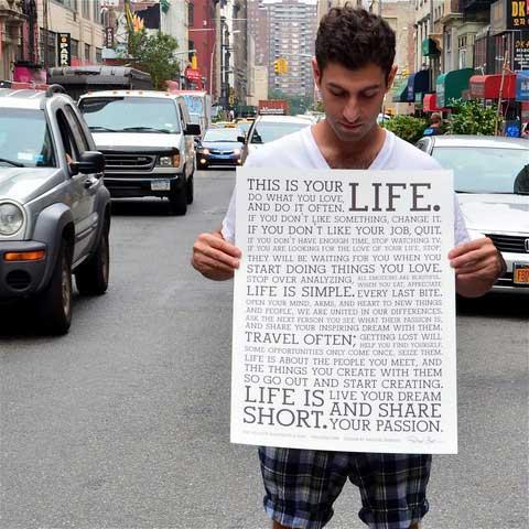 Holstee Manifesto Large Poster