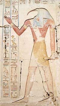 Thoth, ancient Egyptian God of Writing and Wisdom, was also credited with the invention of music