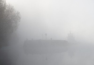 Image of ship in fog