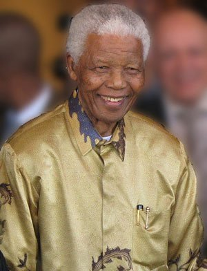 Photo of Nelson Mandela taken in 2008